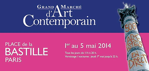 Grand marché d'art contemporain du 1er au 5 mai 2014